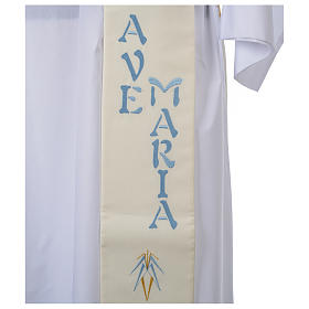 Stuła dla diakona symbol maryjny 100% poliester s4