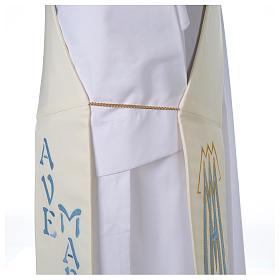 Stuła dla diakona symbol maryjny 100% poliester s5