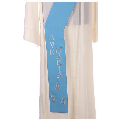 Stuła dla diakona symbol maryjny 100% poliester 7