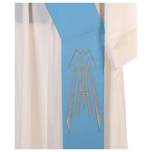 Stuła dla diakona symbol maryjny 100% poliester 11