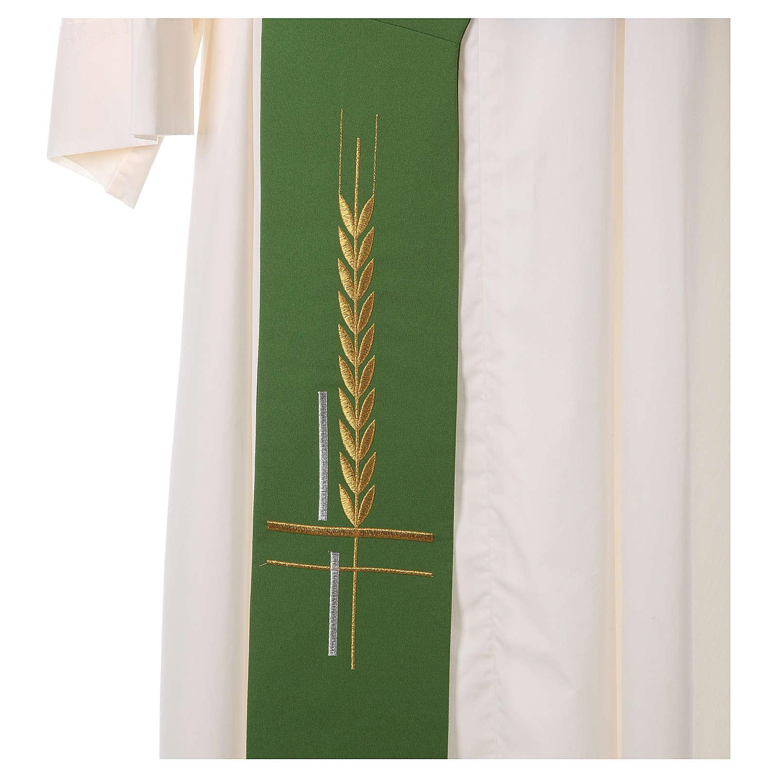Etole pour diacre 100% polyester croix épis 4