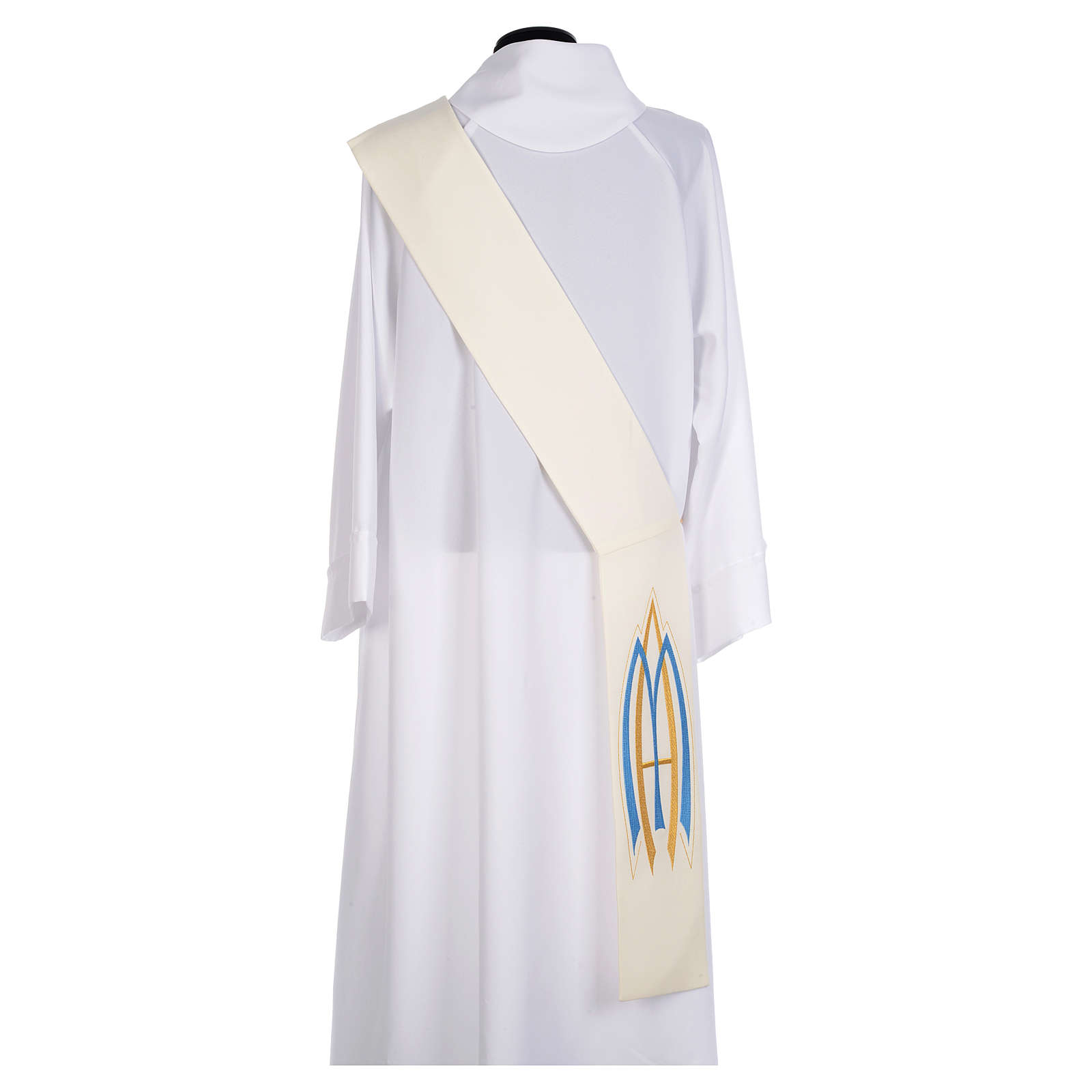 Diaconal Marian stole in polyester 4