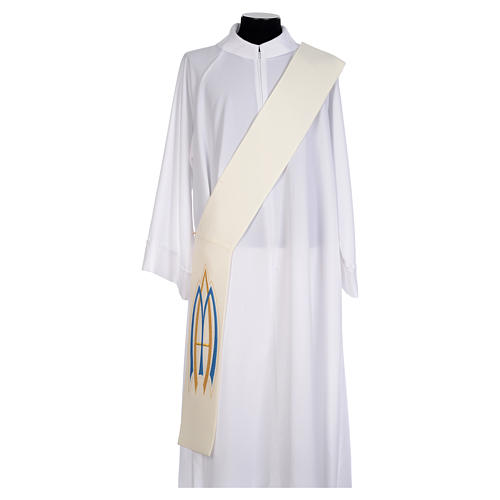 Diaconal Marian stole in polyester 1