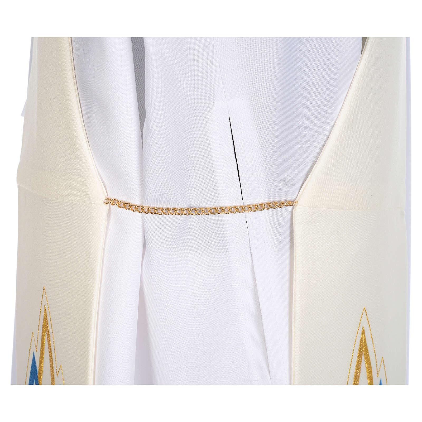Etole Mariale pour diacre en tissu 100% polyester 4