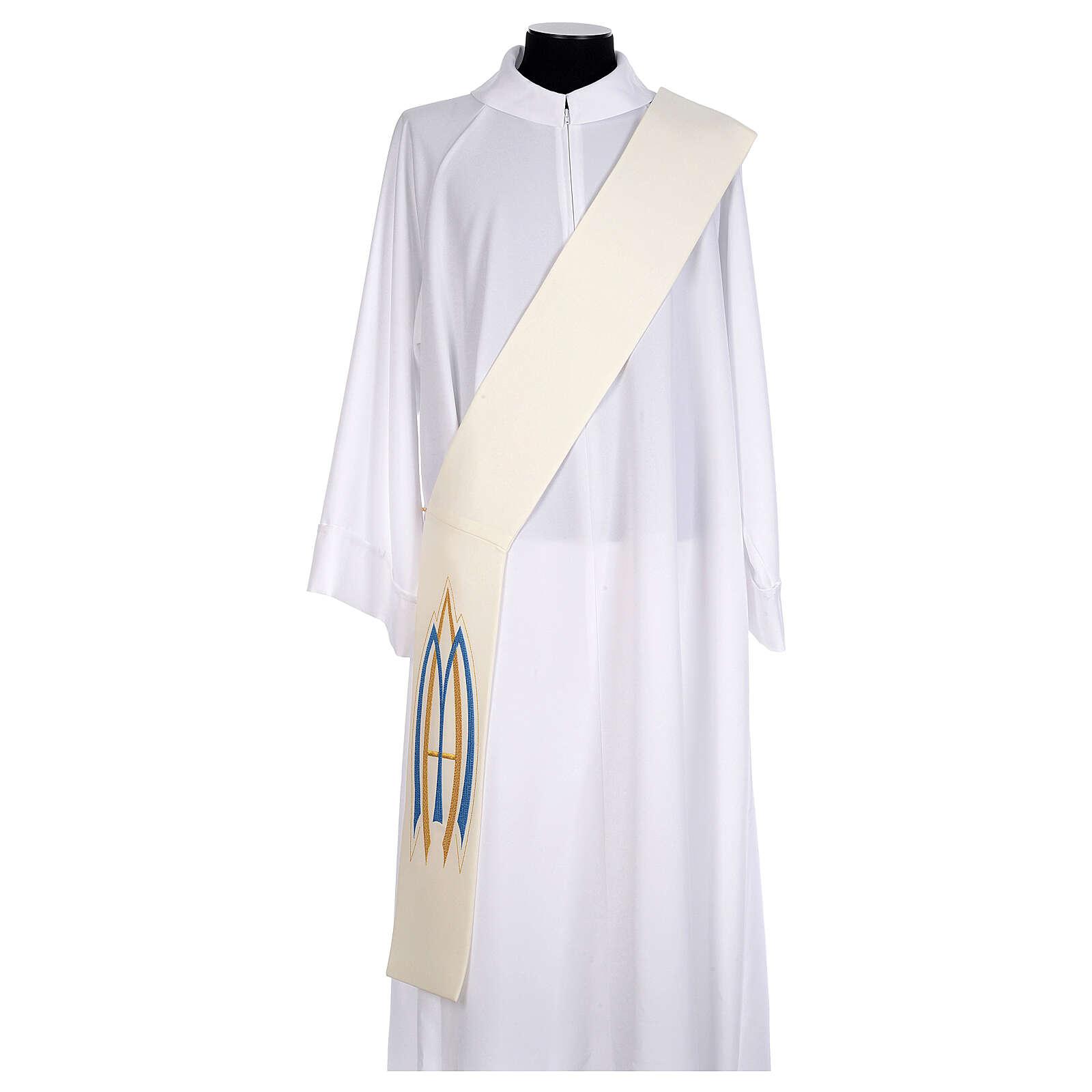 Stola da diacono mariana 100% poliestere 4