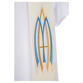 Stola da diacono mariana 100% poliestere s3