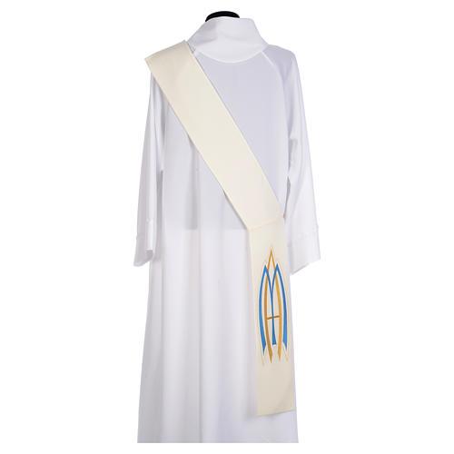 Stola da diacono mariana 100% poliestere 2