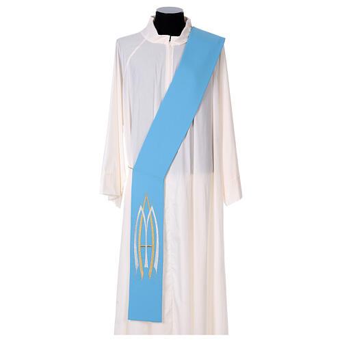Stola da diacono mariana 100% poliestere 3