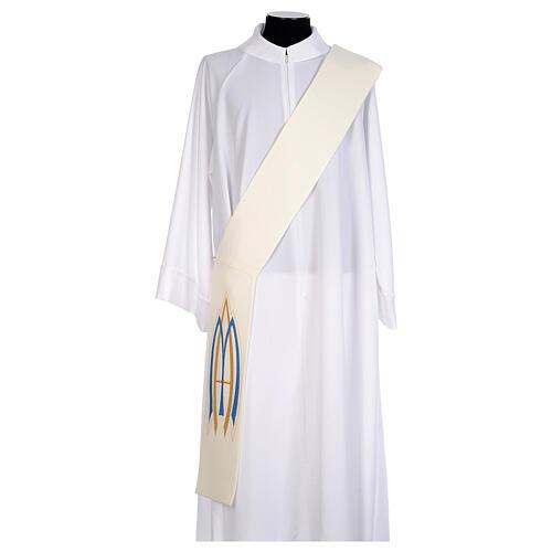 Stola da diacono mariana 100% poliestere 5
