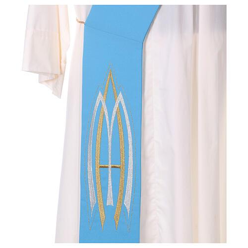 Stola da diacono mariana 100% poliestere 7