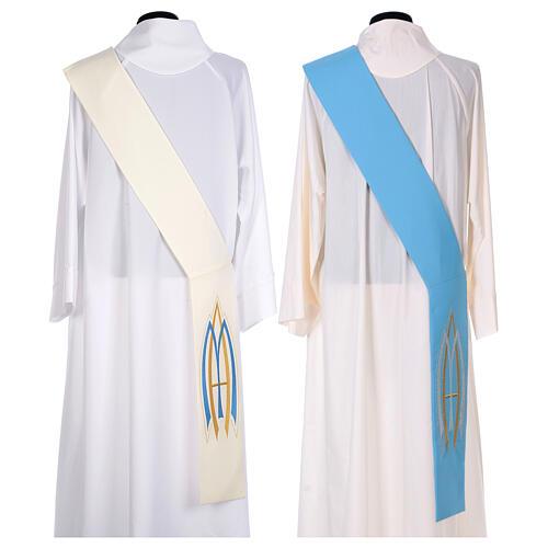 Stola da diacono mariana 100% poliestere 8