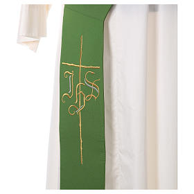 Diaconal stole in polyester with IHS and cross symbols s2
