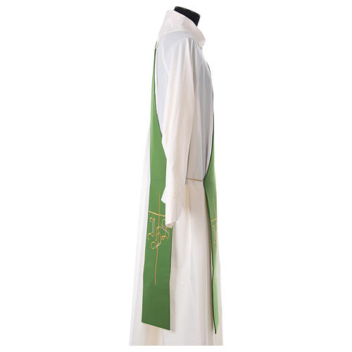 Diaconal stole in polyester with IHS and cross symbols 3