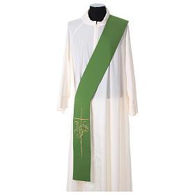 Etole pour diacre croix IHS 100% polyester s1