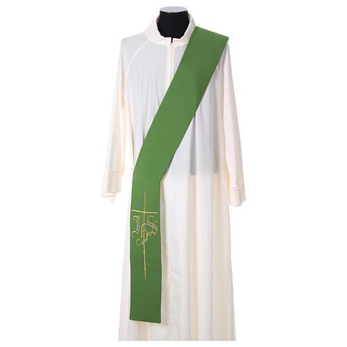 Etole pour diacre croix IHS 100% polyester 1