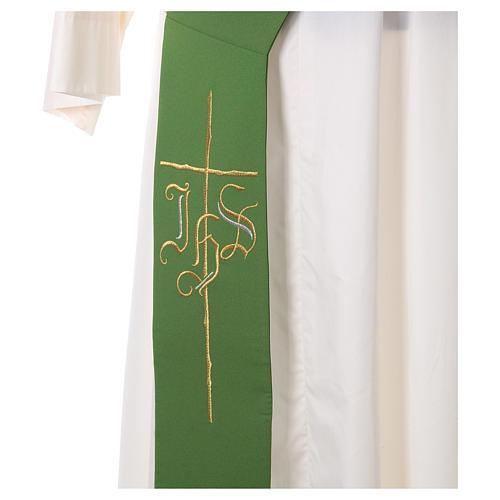 Etole pour diacre croix IHS 100% polyester 2