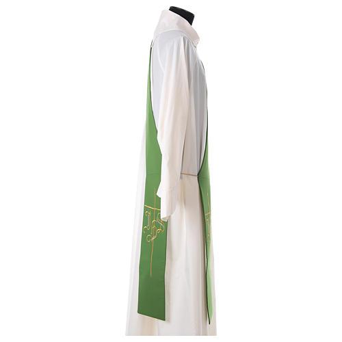 Etole pour diacre croix IHS 100% polyester 3