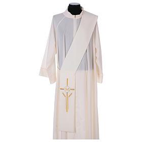 Stuła dla diakona krzyż kłosy IHS 100% poliester s1