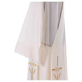 Stuła dla diakona krzyż kłosy IHS 100% poliester s4