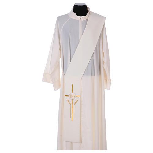 Stuła dla diakona krzyż kłosy IHS 100% poliester 1