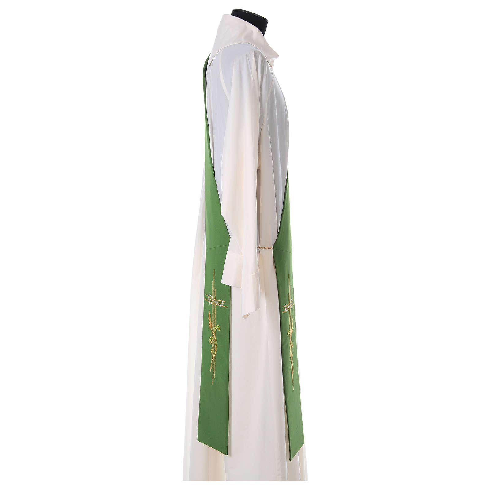 Etole pour diacre épis croix 100% polyester 4