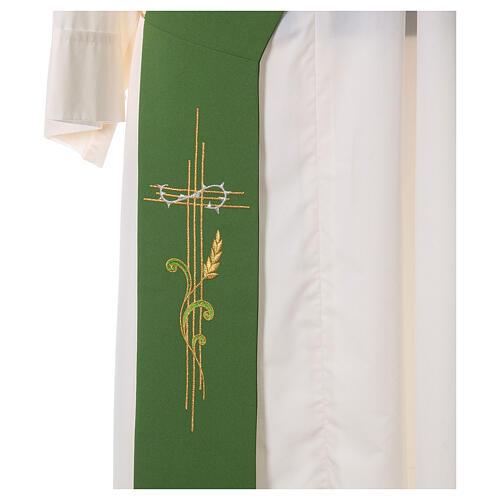 Stola da diacono 100% poliestere spiga e croce 2