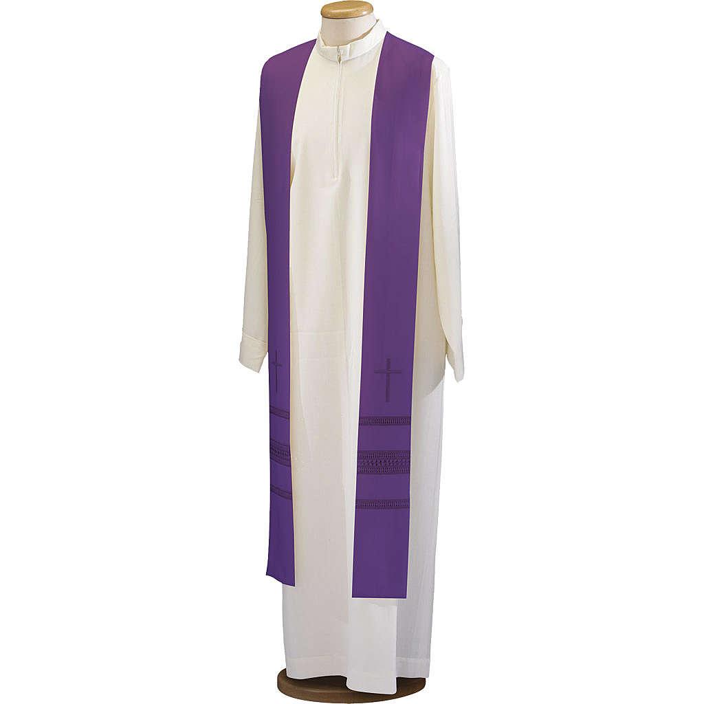Étole croix et jours pure laine 4
