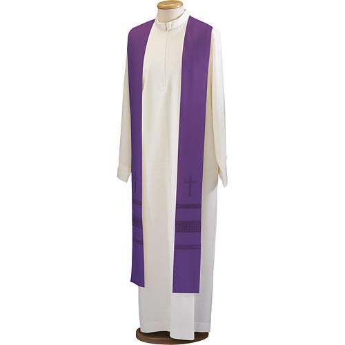 Étole croix et jours pure laine 1