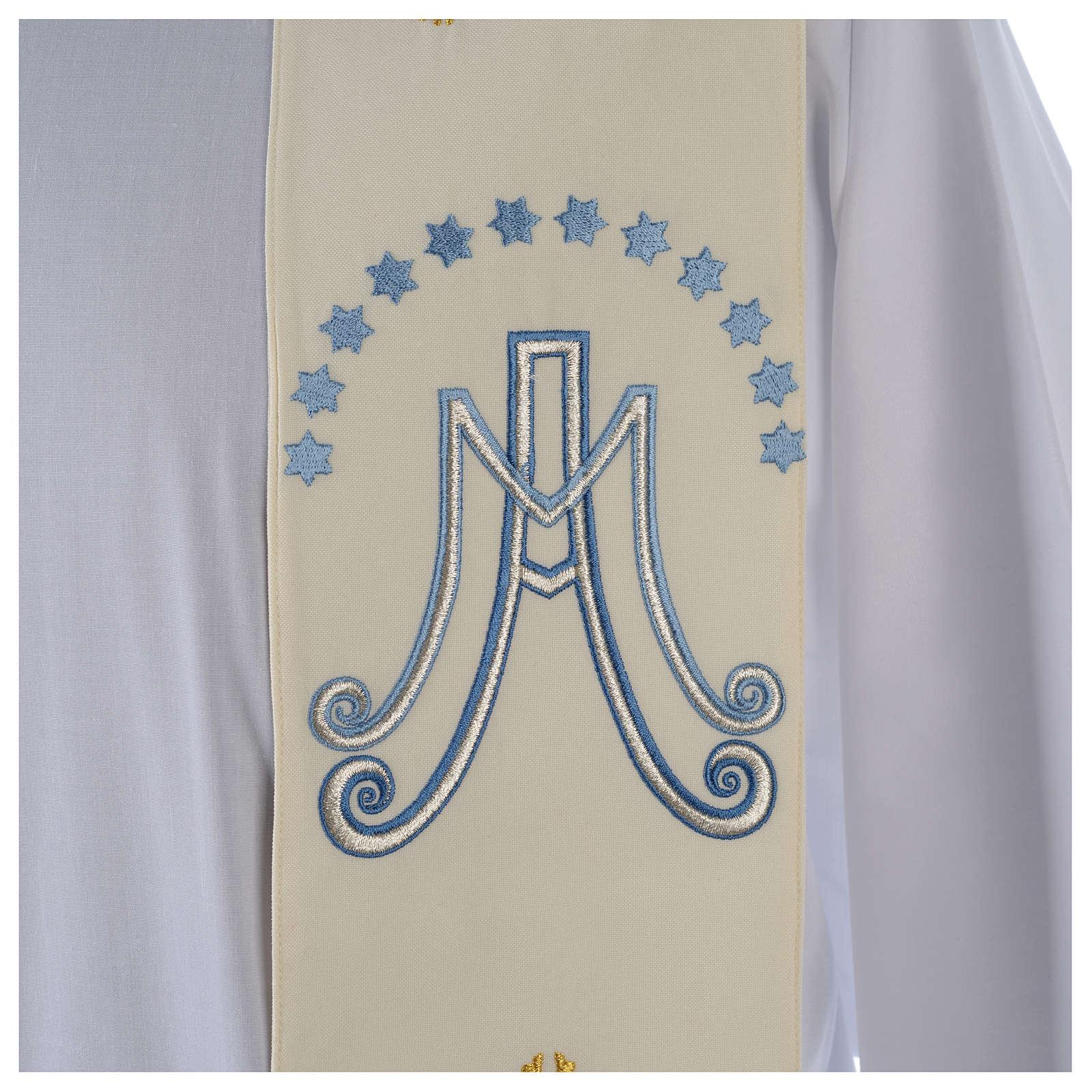 design professionale scarpe eleganti allacciarsi dentro Marian stole in polyester with lilies