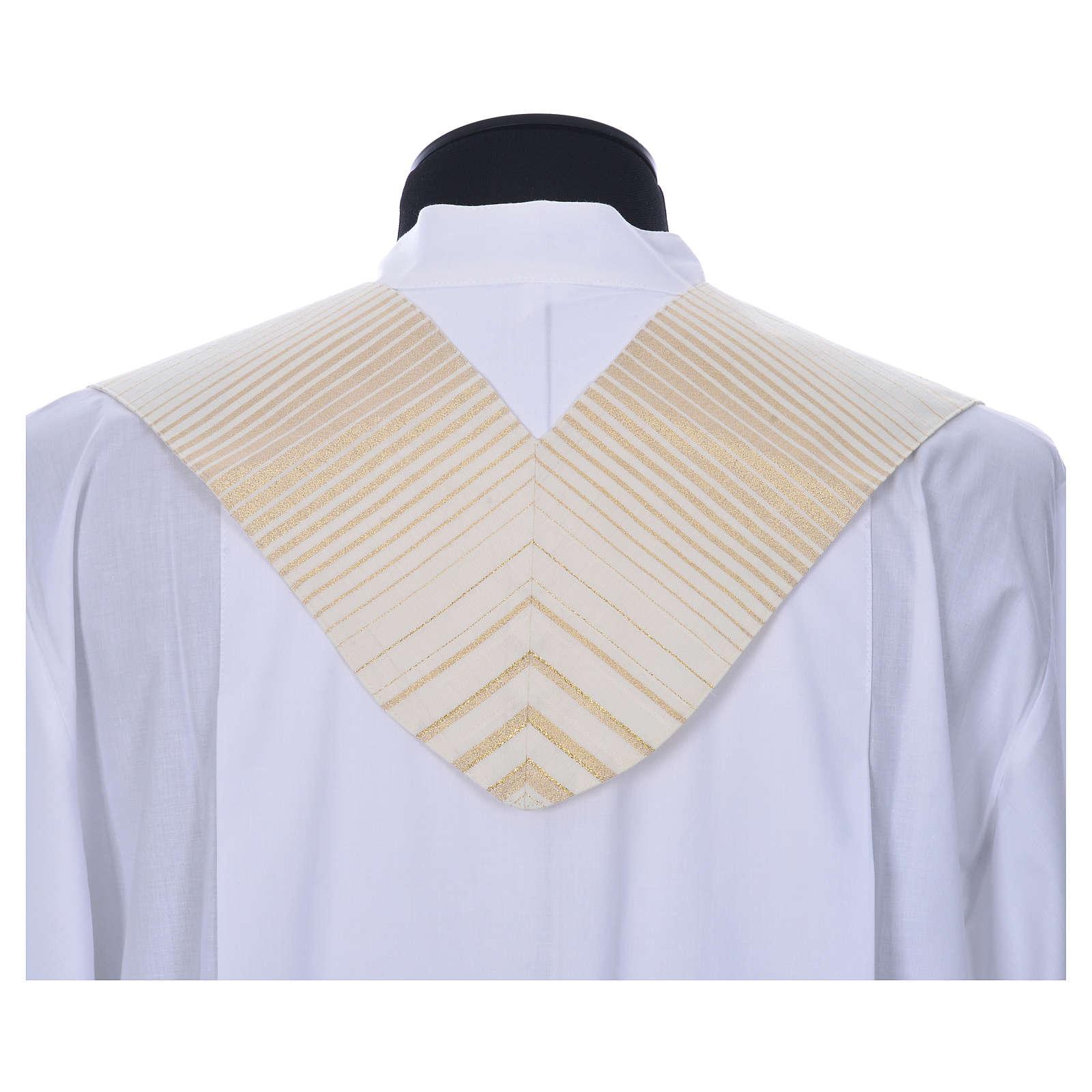 Estola rayada oro de lana y lurex 4