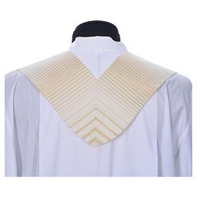 Estola rayada oro de lana y lurex s3