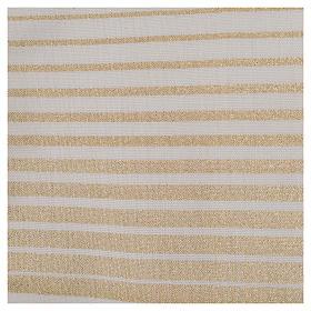 Estola rayada oro de lana y lurex s5