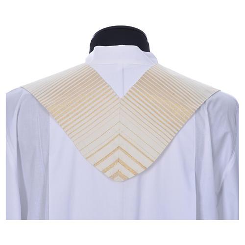 Estola rayada oro de lana y lurex 3