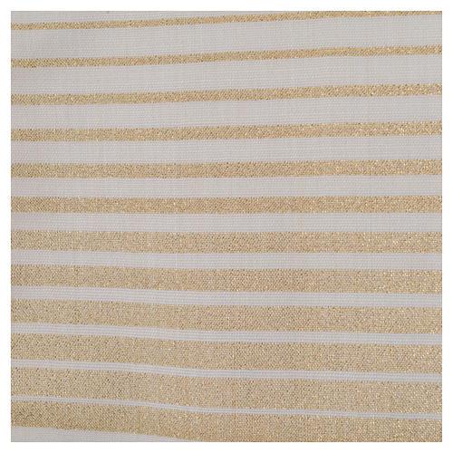 Estola rayada oro de lana y lurex 5