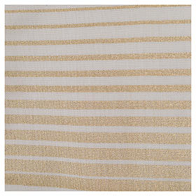 Minister Stole in wool and lurex, striped s5