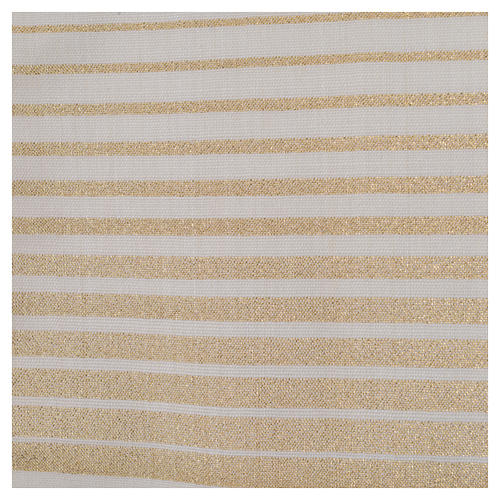 Minister Stole in wool and lurex, striped 5