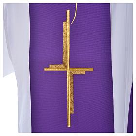 Stola aus Polyester mit Kreuz s6