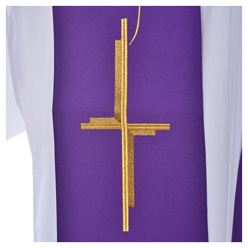 Stola aus Polyester mit Kreuz 6