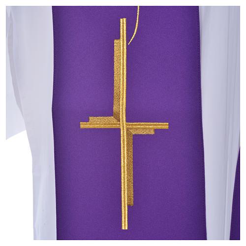Stuła z krzyżem poliester 6