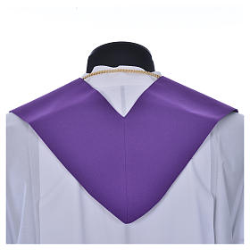 Priest Stole in polyester with cross embroidery s7