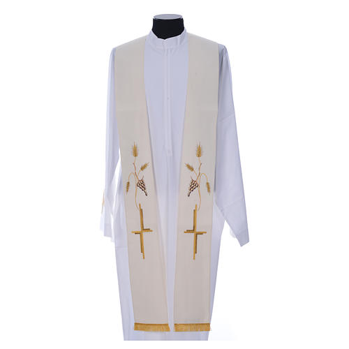 Priest Stole in polyester with cross embroidery 3