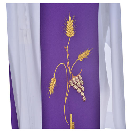 Priest Stole in polyester with cross embroidery 5