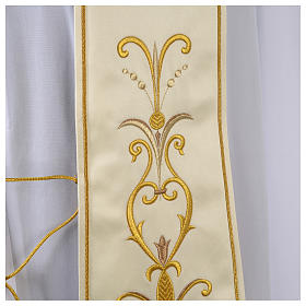 Clergy Stole in satin with floral embroidery s3