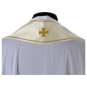 Clergy Stole in satin with floral embroidery s4