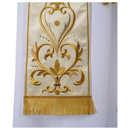Clergy Stole in satin with floral embroidery 2