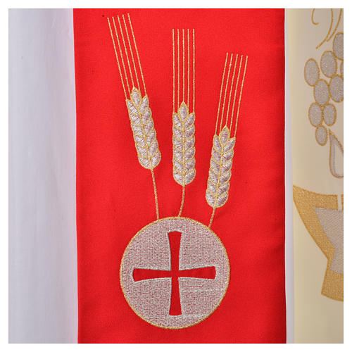 Clergy Stole, 80% polyester 20% wool with chalice grapes decoration 2
