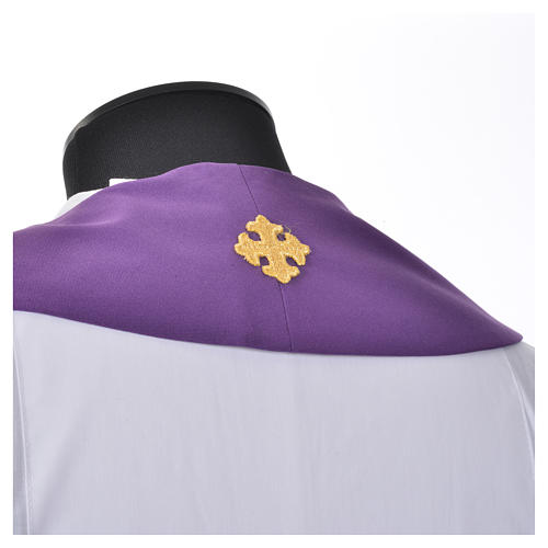 Clergy Stole, 80% polyester 20% wool with chalice grapes decoration 5