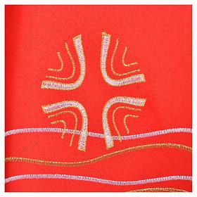 Étole 80% polyester 20% laine décor poissons et croix s5