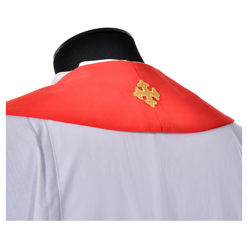 Clergy Stole, 80% polyester 20% wool with fish and cross decoration 7