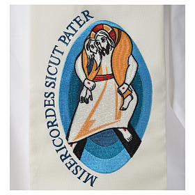 STOCK Pope Francis' Jubilee Big Stole with Latin writing s3